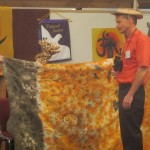 Giraffe and Fred in Compassionate Communication skit, Jan. 13, 2013